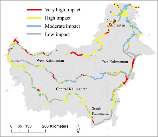 Road and rail projects that are evaluated to have very live levels of risk for forest connectivity and wildlife survival.