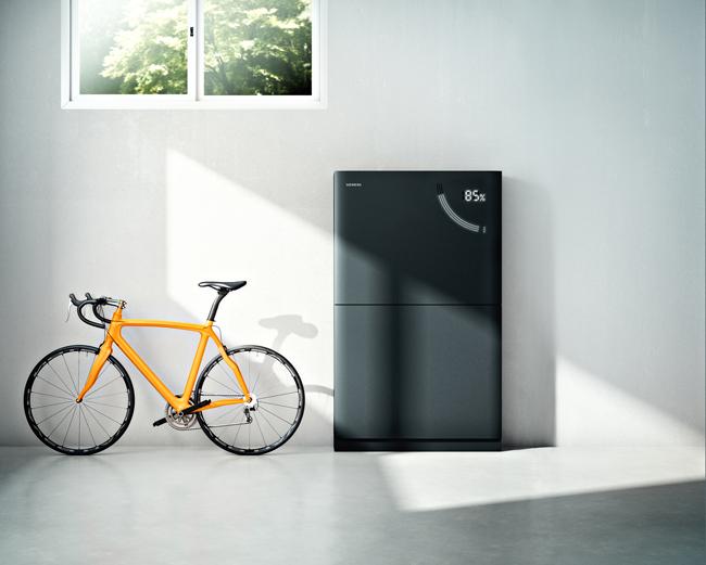 Die Junelight Smart Battery vereint Funktionen für ein intelligentes und sicheres Energiemanagement mit einem modernen Design. © www.siemens.com/presse