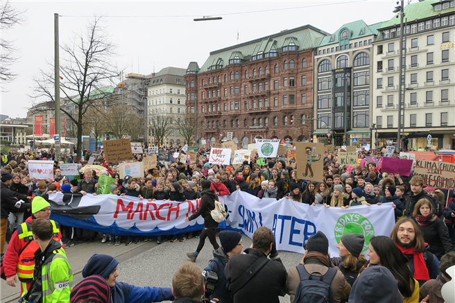 'Fridays For Future'-Demonstration in Hamburg mit Greta Thunberg. © Malte Hübner, CC-by-sa 3.0/de