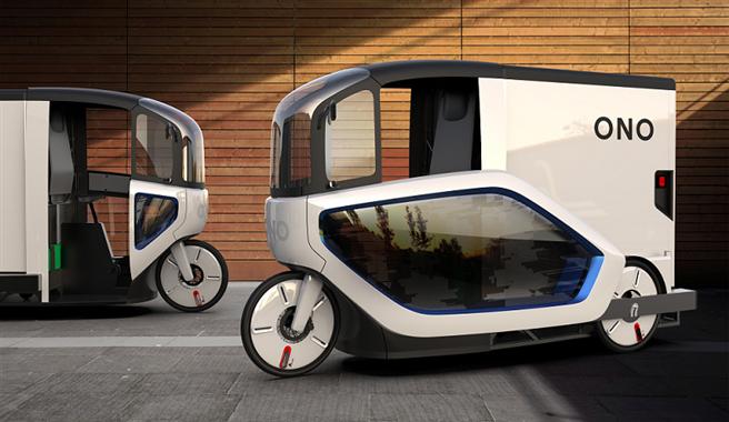 ONO stellt sich mit dem elektromobilen Pedal Assisted Transporter (PAT) den logistischen und ökologischen Herausforderungen der Kurier-, Paket- und Zustellmärkte in den Städten. © ono produkt