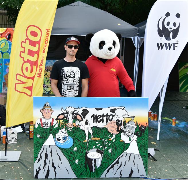Der Künstler Mosha überzeugte die Jury mit seinem Motiv. © Netto Marken-Discount AG & Co. KG