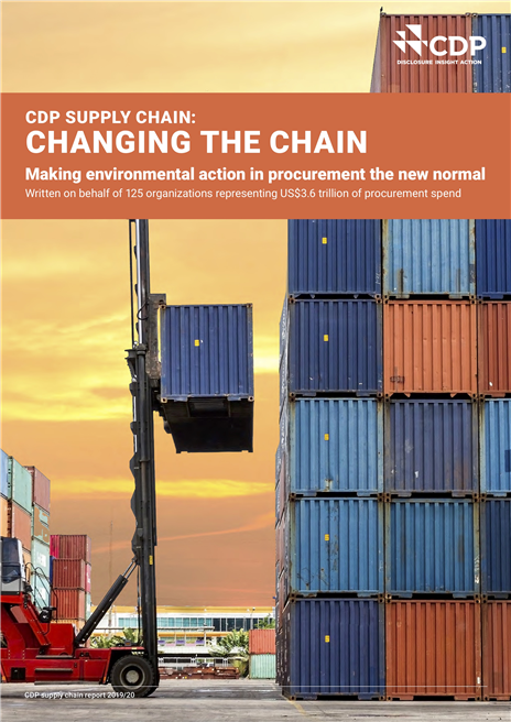 The Global Supply Chain Report 2019 - A decade of action showing the power in purchasing. © CDP