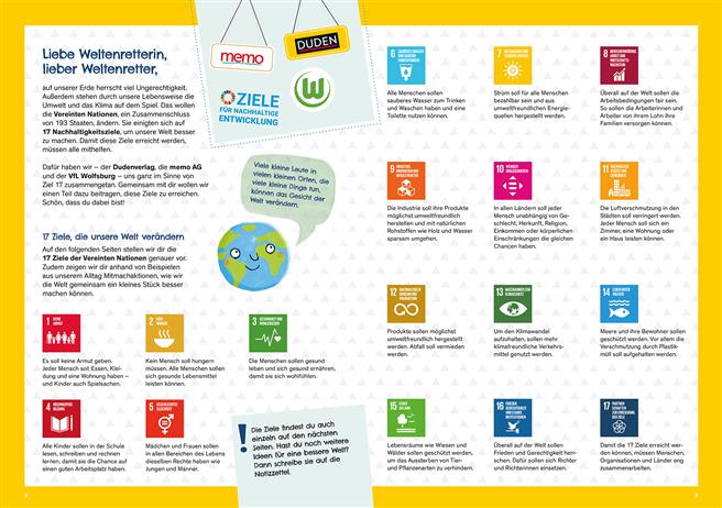 Als roter Faden im Heft dienen die 17 Ziele für eine nachhaltige Entwicklung der Vereinten Nationen. © memo AG
