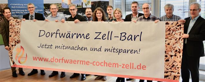Mit vereinten Kräften zu mehr Nahwärmeverbünden im Kreis Cochem-Zell. Eine tragende Figur dabei ist Dirk Barbye (ganz links). © Kreisverwaltung Cochem-Zell