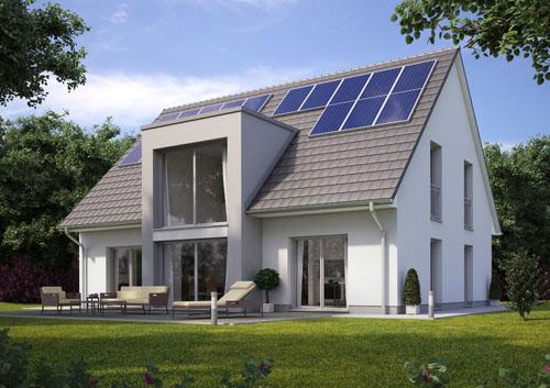 Aktiv-Energiehaus mit dena-Gütesiegel © Heinz von Heiden GmbH Massivhäuser