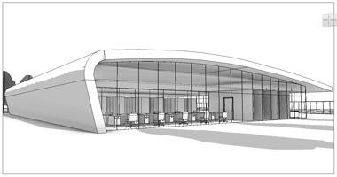Entwurfzeichnung des Rechenzentrums Windcloud. Foto: Windcloud